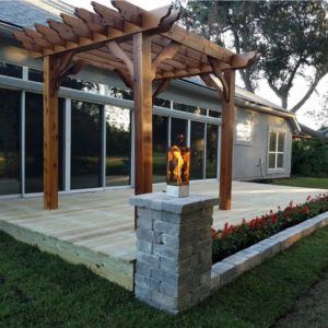 Contemporary Cedar Pergola Kit – Big Kahuna