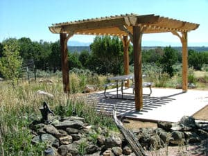 Assembled DIY Pergola Kit on Patio - Big Kahuna