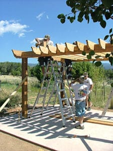 DIY Pergola Kit Assembly Rafter Installation - Big Kahuna