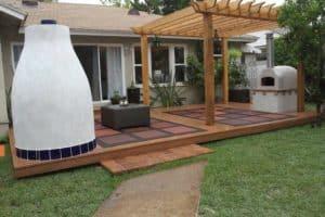 Modern freestanding patio cover – Big Kahuna 15x15 pergola kit