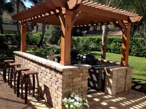 Freestanding Outdoor Bar Pergola Kits – Big Kahuna