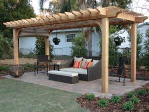 Cedar Pergola Outdoor Living Room