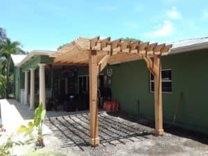 Attached 15x11 Cedar Pergola – Big Kahuna