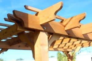 cedar wood pergola kit
