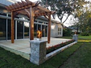 Freestanding Wood Pergola on Deck