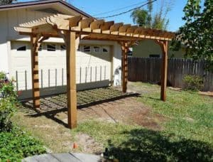 Big Kahuna Freestanding 10x17 Garage Carport Pergola