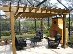 4 Post Freestanding Pine Big Kahuna Pergola