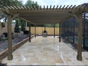 6 Post Custom Freestanding Pergola - Big Kahuna