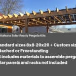 Standard and Custom Size Solar Ready Pergolas