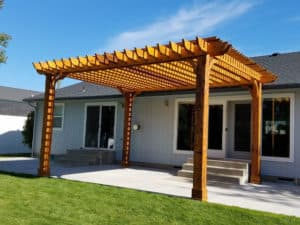 Sealing and Staining Wood - Big Kahuna Pergola Freestanding Cedar