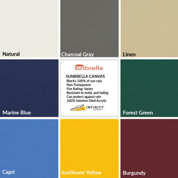 Canopy Fabric Colors – Sunbrella fabric