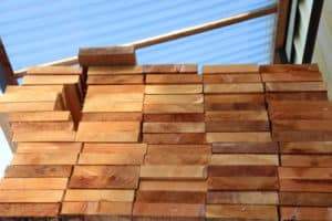 Cedar Lumber Prior to Staining or Sealing
