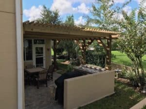 Custom Attached Big Kahuna Pergola Porch Design Idea