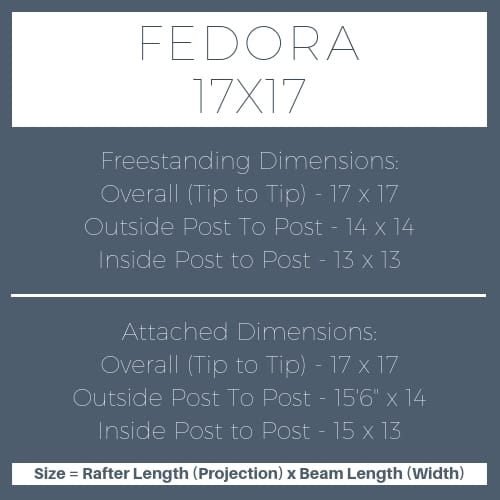 Fedora 17x17 pergola