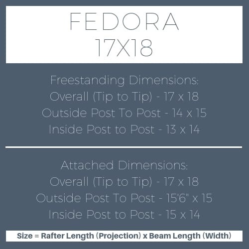 Fedora 17x18 pergola