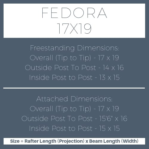 Fedora 17x19 pergola