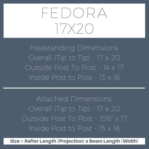 Fedora 17x20 pergola