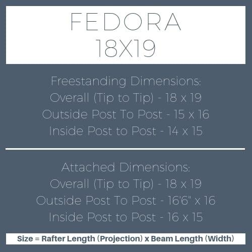 Fedora 18x19 pergola