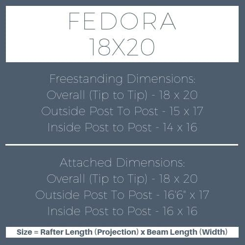 Fedora 18×20 pergola