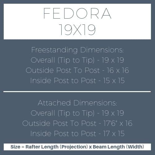 Fedora 19x19 pergola