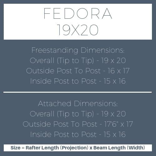 Fedora 19x20 pergola