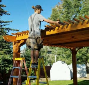 Steps for Staining Wood Pergolas – 20x20 Big Kahuna Freestanding Cedar