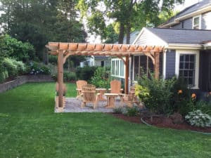 Sombrero Cedar Pergola Prior to Staining Wood