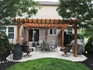 Standard Pergola Sizes for Standard Size Patios