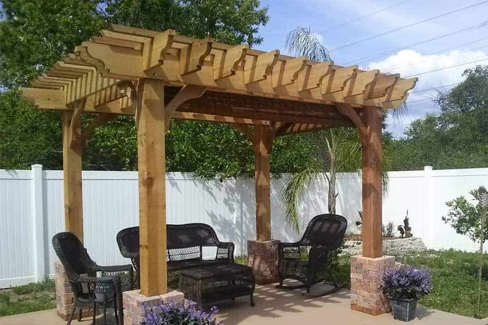 11 Foot Big Kahuna Freestanding Pergola Kit