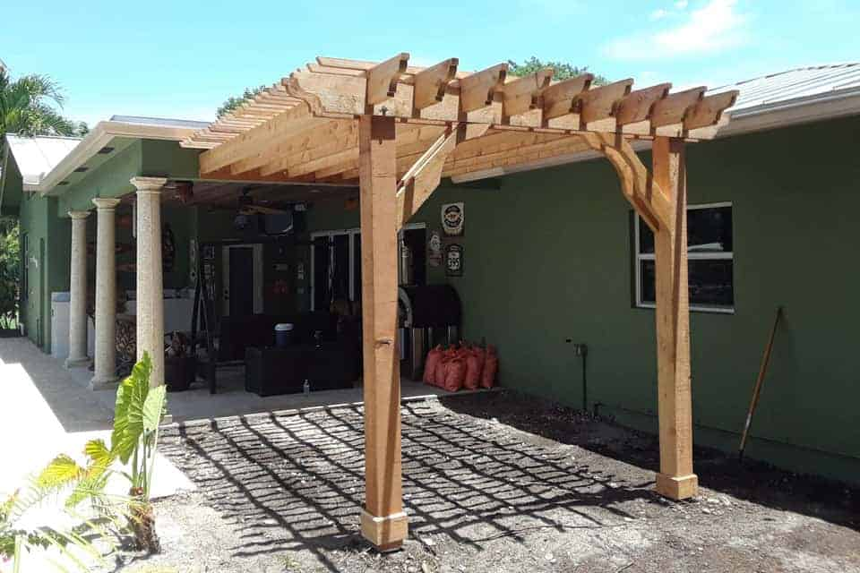 11 Foot Big Kahuna Attached Pergola Kit