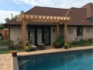 Living Room Shade Pool Pergola – 11x15 Big Kahuna