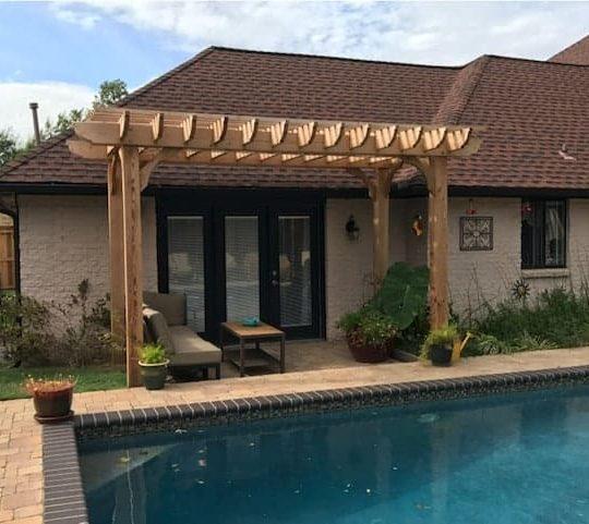 Living Room Shade Pool Pergola – 11x15 Big Kahuna