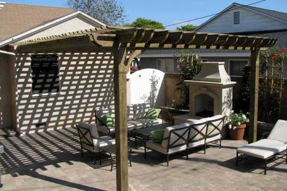 12 Foot Big Kahuna Attached Pergola Kit