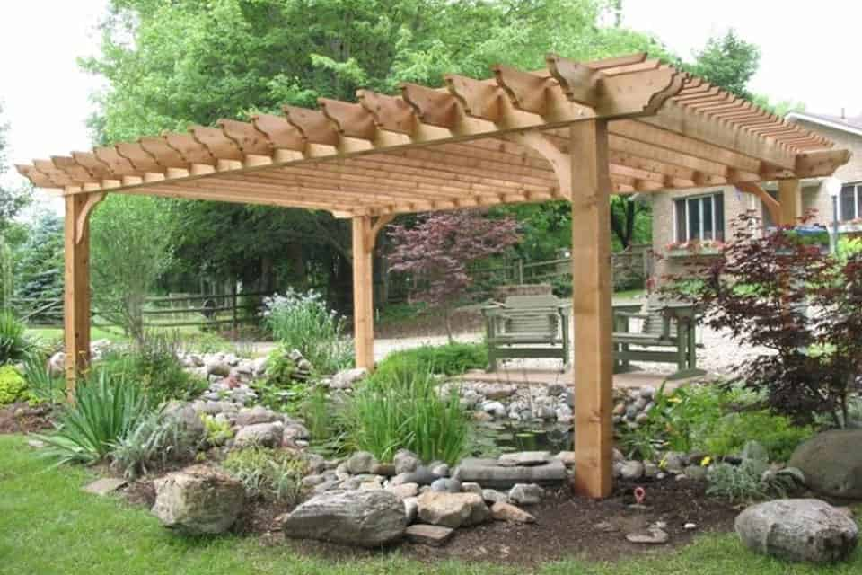 12 Foot Big Kahuna Wood Pergola Kit
