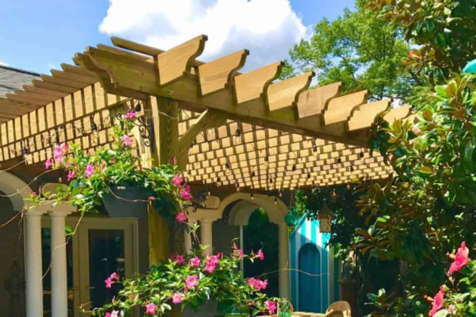 13 Foot Big Kahuna Wood Pergola Kit