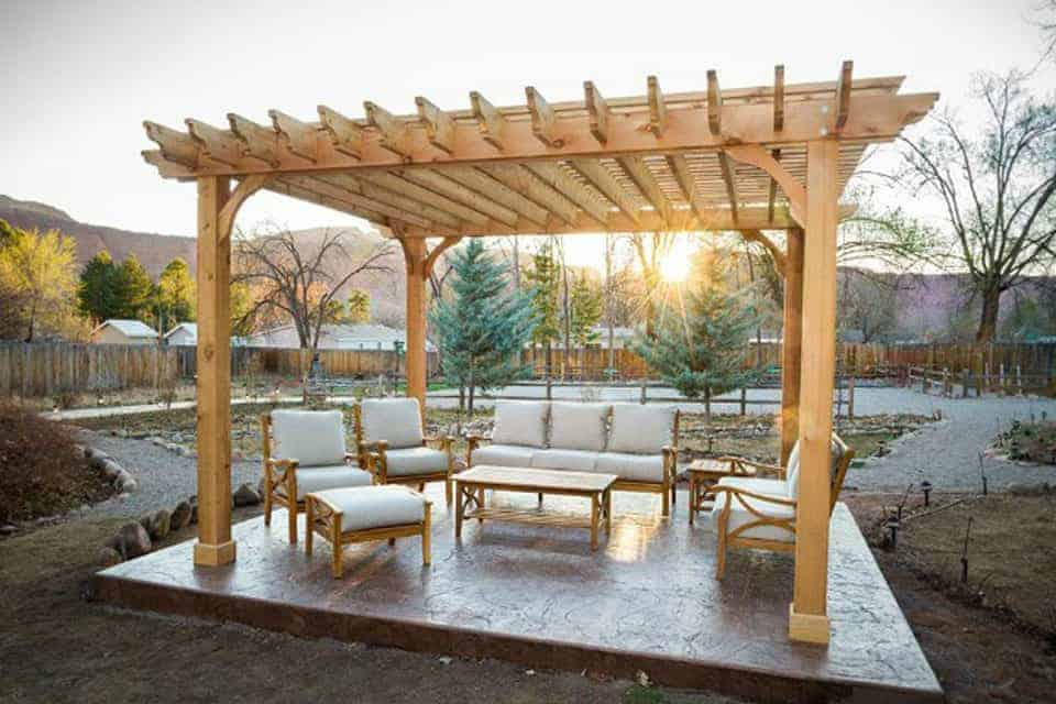 14 Foot Big Kahuna Wood Pergola Kit