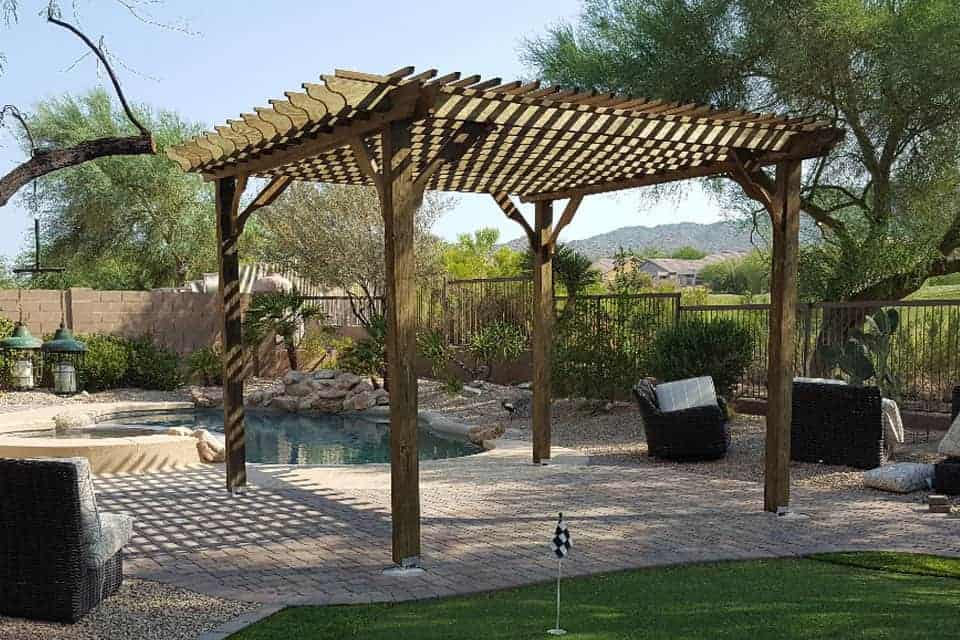 15 Foot Big Kahuna Wood Pergola Kit