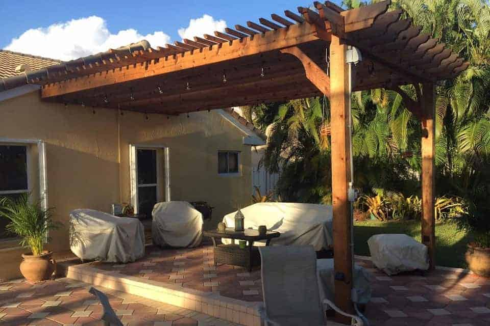 19 Foot Big Kahuna Attached Pergola Kit