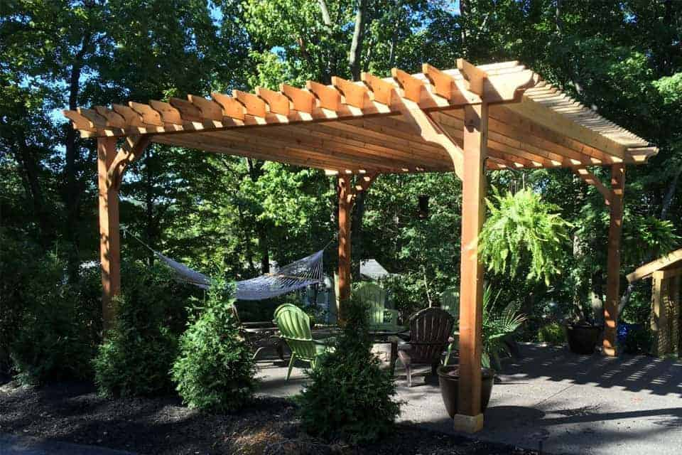 20 Foot Big Kahuna Freestanding Cedar Pergola Kit