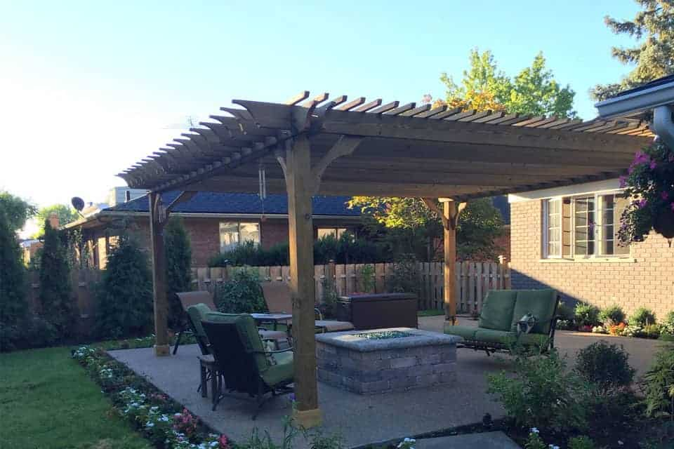 20 Foot Big Kahuna Freestanding Pine Pergola Kit