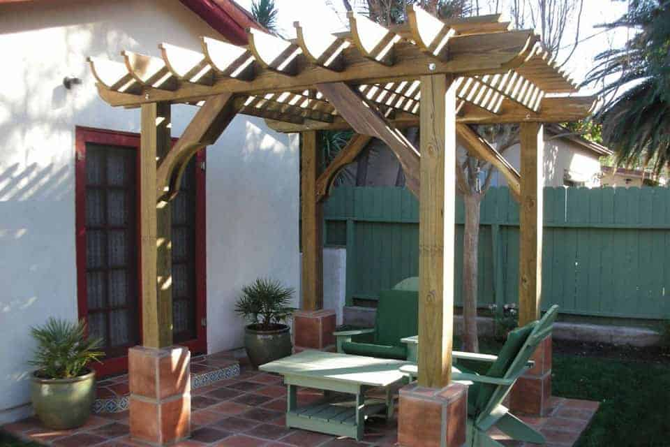 8 Foot Big Kahuna Wood Pergola Kit