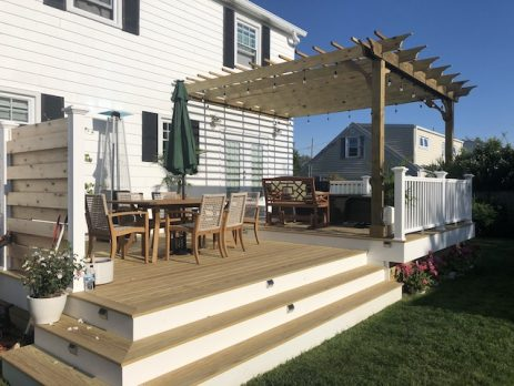 covered pergola kits with medium shade