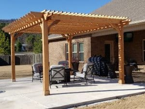 pergola for relaxing space