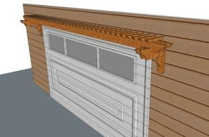 Garage Door Pergola Kit 20 Feet