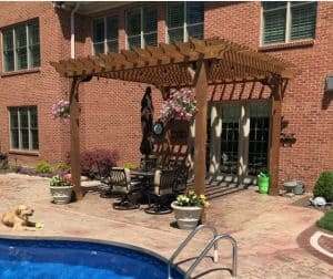 Swimming Pool Shade Structures - 15x15 Big Kahuna Pergola