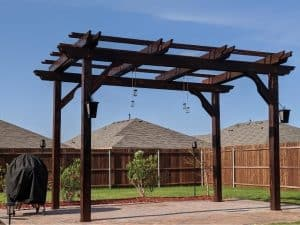 Large Freestanding Pergola with Sconce Lighting