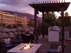 Fireplace Pergola Ideas - Big Kahuna Freestanding Pergola