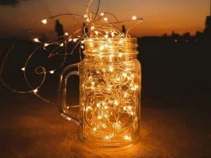 Pergola Lighting DIY Jars