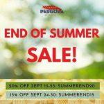End of Summer Pergola Sale 2021